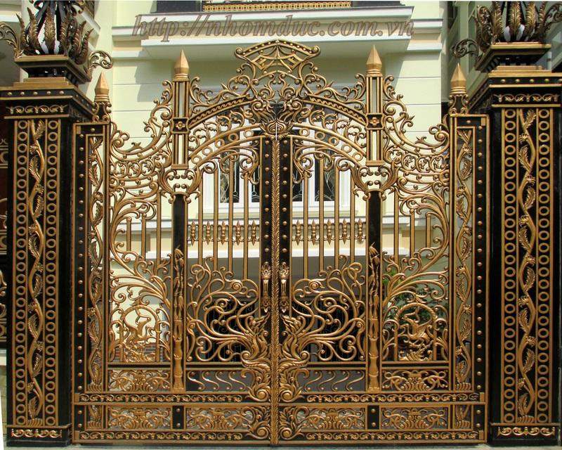 Cửa cổng nhôm đúc, cửa biệt thự tại các tỉnh thành tại Miền Bắc và các tỉnh lân cận
