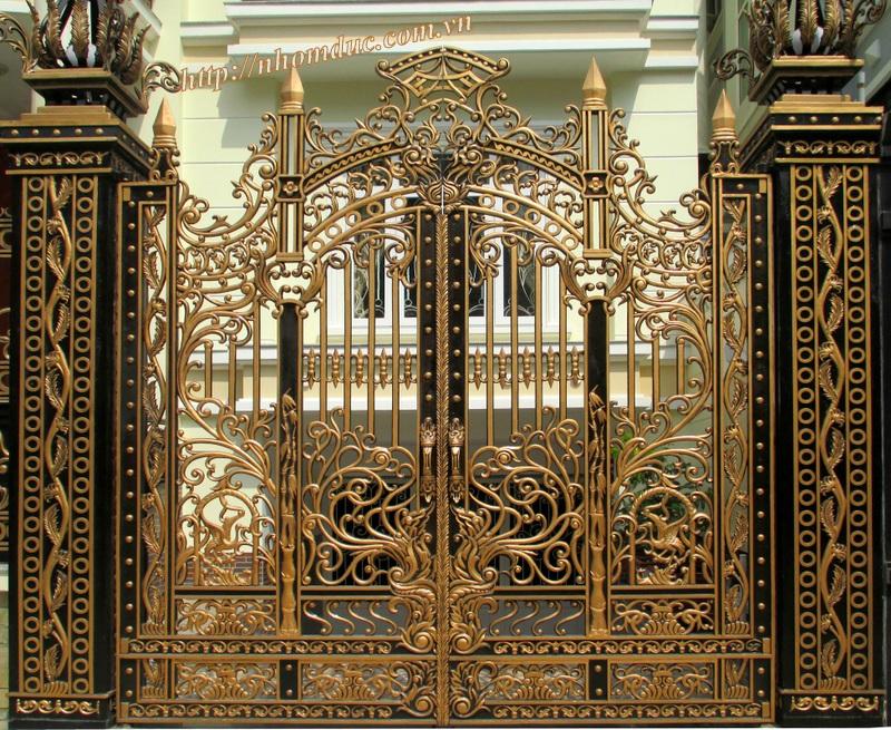 cổng nhôm đúc, hàng rào nhôm đúc, ban công nhôm đúc tại Nam Định