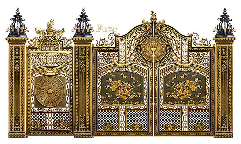 Thiết kế nhôm đúc, thiết các công trình cổng, cửa nhôm đúc, thiết kế hàng rào, lan can nhôm đúc