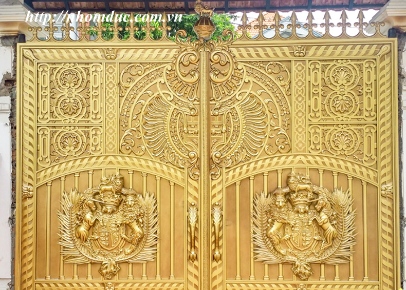 cổng nhôm đúc đẹp nhất hà nội