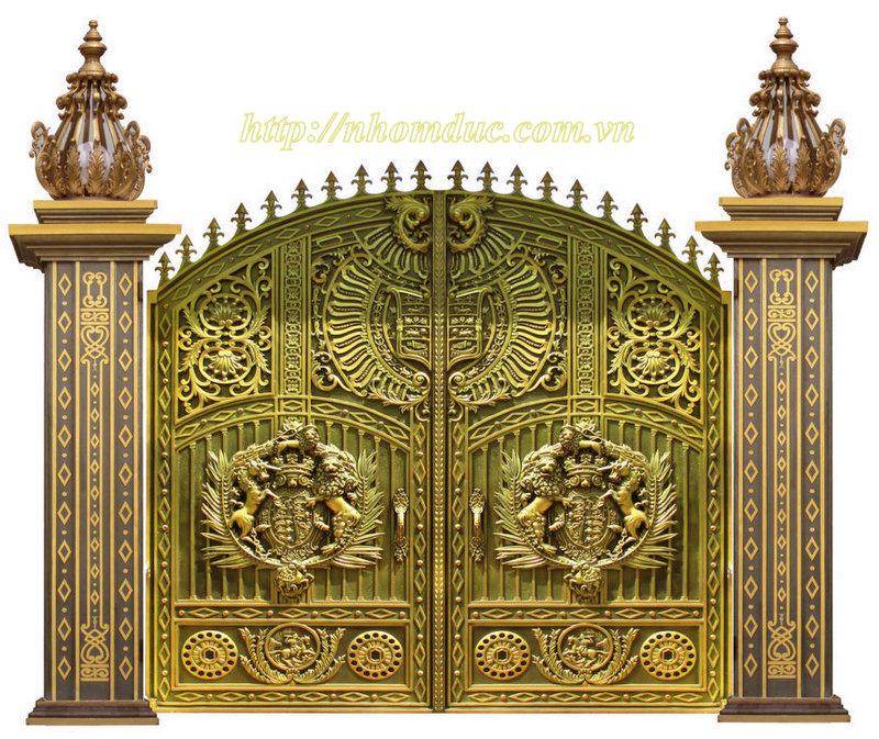 Cổng nhôm đúc mẫu GAT, cổng nhôm đúc Buckingham