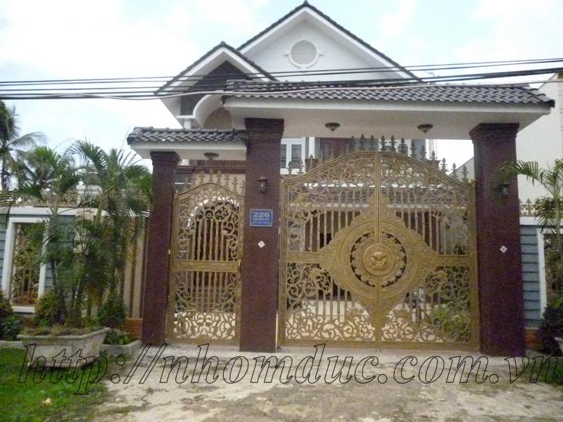 Cửa cổng hợp kim nhôm đúc, sản phẩm nhôm đúc công nghệ Nhật Bản
