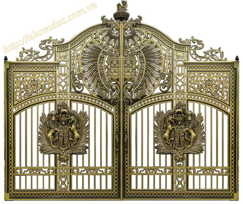Báo giá nhôm đúc, báo giá các loại cổng nhôm đúc từ cổng nhôm đúc đơn giản đến cổng nhôm đúc phức tạp, cổng nhôm đúc có phù điêu và cổng nhôm đúc không phù điêu.