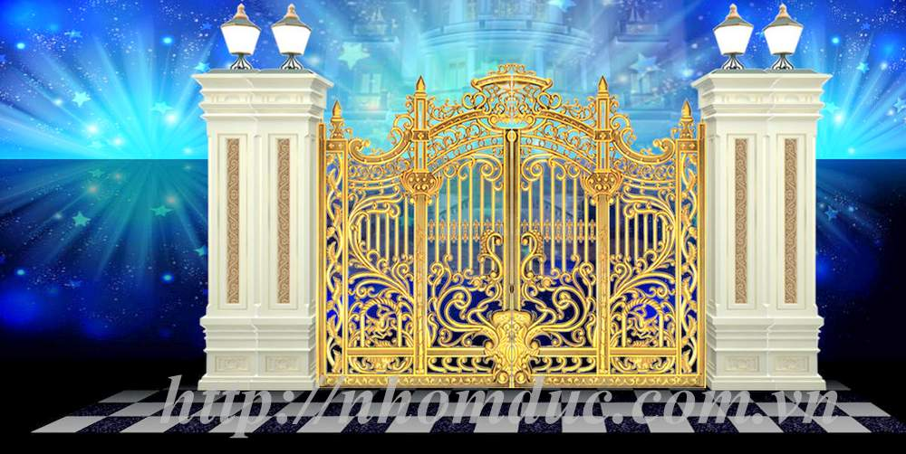 Cổng Biệt thự Nhôm đúc