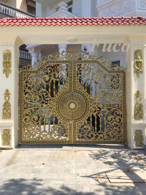 Cổng cửa nhôm đúc – Nhôm đúc Hà Nội