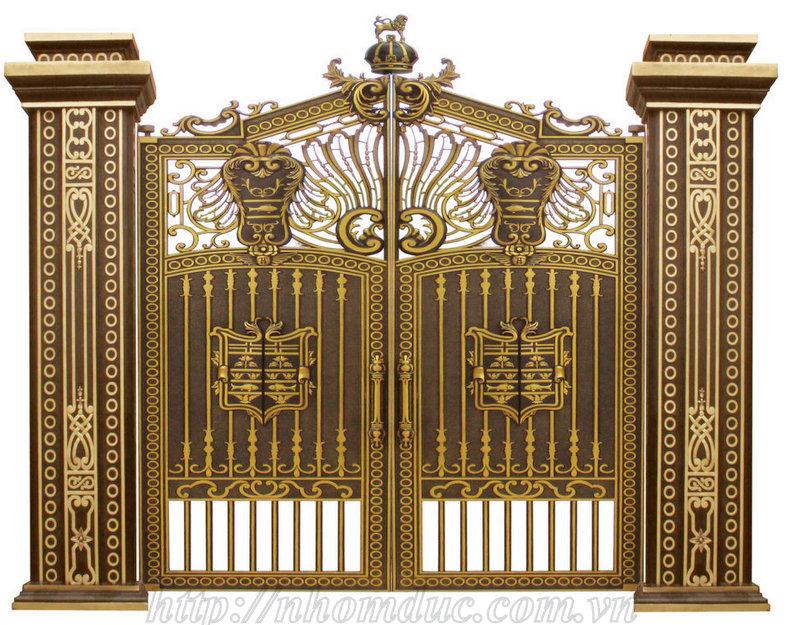 cửa cổng nhôm đúc Fuco mẫu mã đẹp