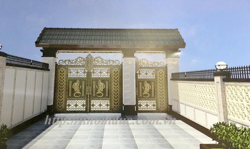 Cổng nhôm đúc 2016