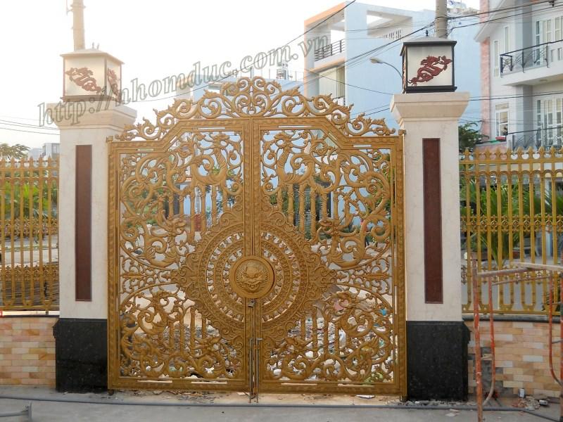 Cửa cổng nhôm đúc biệt thự GAT