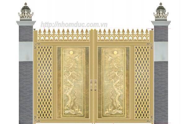 Cổng cửa nhôm đúc tham khảo GAT 1