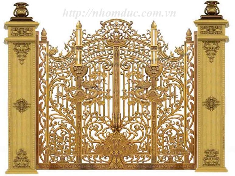 Báo giá nhôm đúc, báo giá các loại cổng nhôm đúc từ cổng nhôm đúc đơn giản đến cổng nhôm đúc